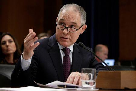 FILE PHOTO --  Oklahoma Attorney General Scott Pruitt testifies on his nomination to be administrator of the Environmental Protection Agency in Washington.