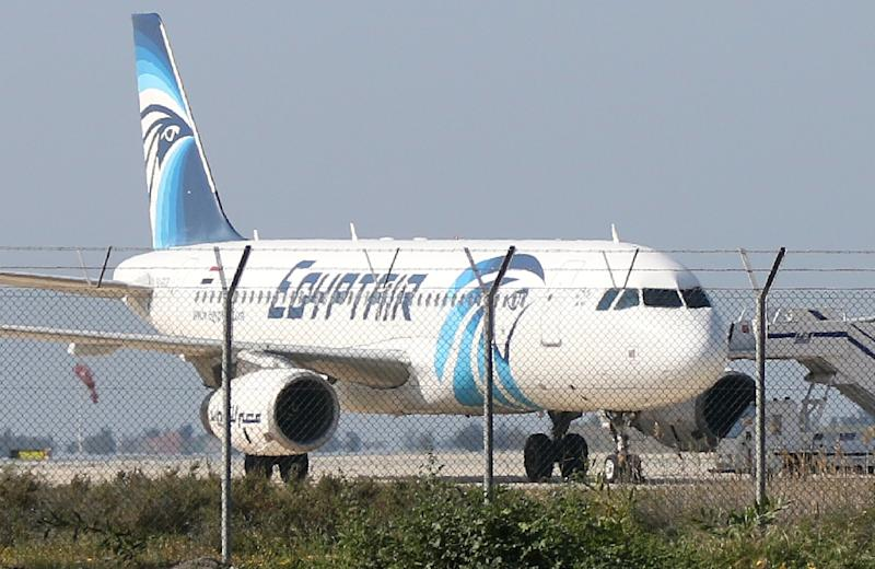 Traces of explosives have been detected on remains of victims of an EgyptAir plane crash last May that killed all 66 people on board, the aviation ministry announced (AFP Photo/STR)