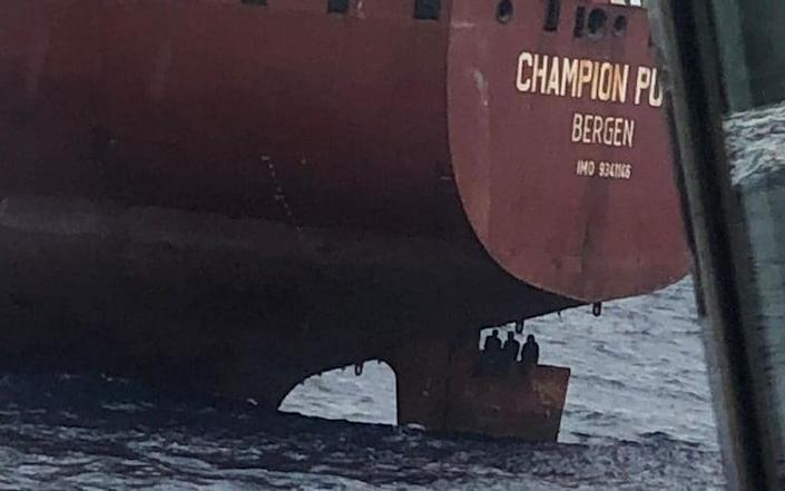 "Hidden for ten days behind the helm of Bergen oil tanks, - Terrible to see that people are so desperate in the pursuit of a better life, says chairman of the board of Champion Tankers, Karl L. Kvalheim., , blind passengers at the helm. Photo: Unknown, , When the ship ""Champion Pula"" arrived in Las Palmas, four men from Nigeria were discovered sitting at the helm., , It was NRK that first told the story of the blind passengers on the Bergen oil tanker., , valheim in Champion Tankers tells BT that the four men had been hiding in a cavity behind the helm for ten days., , According to NRK , the ship had unloaded in Lagos, Nigeria, and was on its way to Herøya in Porsgrunn to load liquid manure. - News Scans/News Scans"