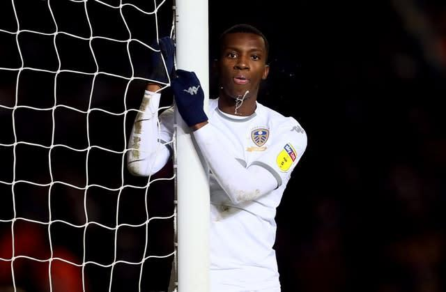 Eddie Nketiah was not given much playing time at Leeds (Richard Sellers/PA)