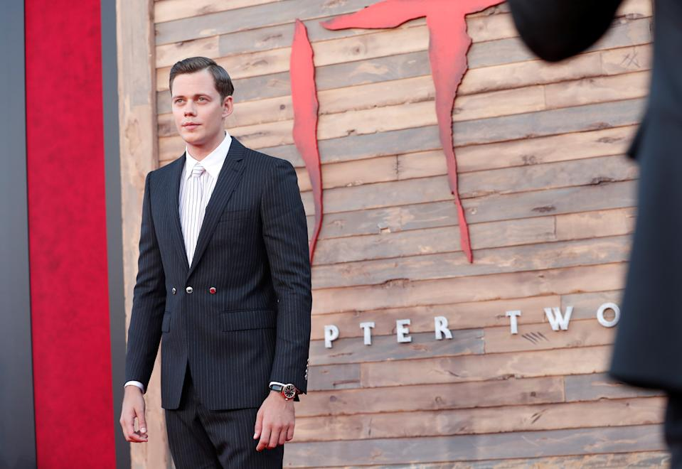 """Bill Skarsgard attends the premiere for """"IT Chapter Two"""" in Los Angeles, California, U.S., August 26, 2019. REUTERS/Mario Anzuoni"""