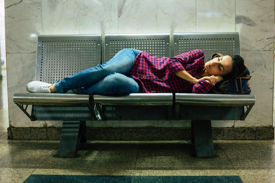 """<span class=""""caption"""">When we lie down, our brains rely more on touch and pressure to figure out our surroundings.</span> <span class=""""attribution""""><span class=""""source"""">(Shutterstock)</span></span>"""