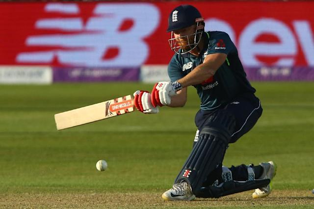 On the attack: Jonny Bairstow hits out during his century in England's six-wicket win over Pakistan in the third one-day international at Bristol on Tuesday (AFP Photo/GEOFF CADDICK)