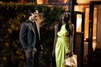 <p>Crafted with cutouts and in this statement-making citrus hue, Molly's Dion Lee cocktail dress is easily one of the show's most memorable looks. Just look at her glowing in this!</p>