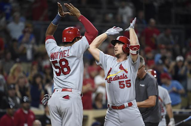 """<a class=""""link rapid-noclick-resp"""" href=""""/mlb/players/9628/"""" data-ylk=""""slk:Stephen Piscotty"""">Stephen Piscotty</a> will look to get things back on track with the Athletics. (Photo by Denis Poroy/Getty Images)"""