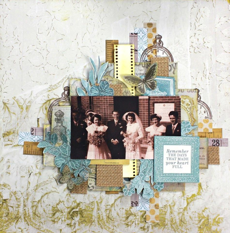 """<p>Vintage family photos deserve a treatment that's as charming as they are. Here, use scrapbook embellishments that look as if they were pulled from an antique book.</p><p><strong>Get the tutorial at <a href=""""https://papercraftsecrets.com.au/2019/06/01/uniquely-creative-diy-scrapbook-tutorial-layout-4/"""" target=""""_blank"""">Paper Craft Secrets</a>.</strong><br> <br><a class=""""body-btn-link"""" href=""""https://www.amazon.com/Laribbons-Burlap-Fabric-Craft-Ribbon/dp/B0046UV3CO?tag=syn-yahoo-20&ascsubtag=%5Bartid%7C10050.g.30900737%5Bsrc%7Cyahoo-us"""">SHOP BURLAP</a><br></p>"""