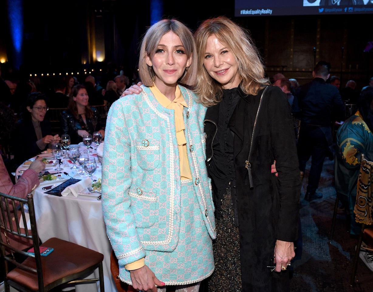 Scarlett Curtis and Meg Ryan attend the annual Make Equality Reality Gala hosted by Equality Now on November 19, 2019 in New York City.