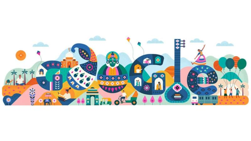 Republic Day 2020 celebrated in today's Google doodle highlighting India's cultural heritage