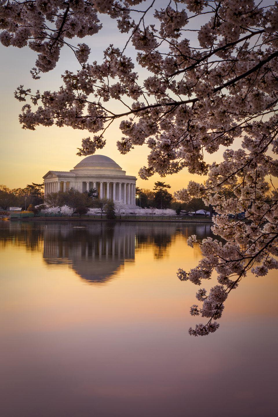 <p><strong>Where: </strong>Thomas Jefferson Memorial, Washington D.C.</p><p><strong>Why We Love It: </strong>Dedicated to the third President of the United States, this neoclassical building was inspired by the Roman Pantheon and Jefferson's own design for the Rotunda at the University of Virginia.</p>