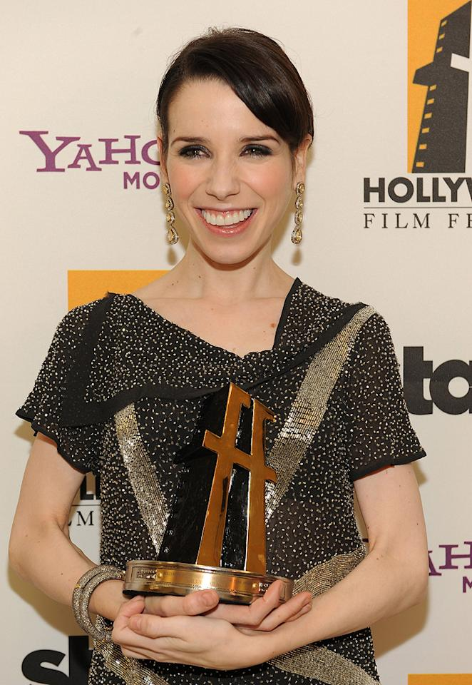 """<a href=""""http://movies.yahoo.com/movie/contributor/1808434771"""">Sally Hawkins</a> backstage at the 12th Annual Hollywood Film Festival Awards Gala in Beverly Hills - 10/27/2008"""