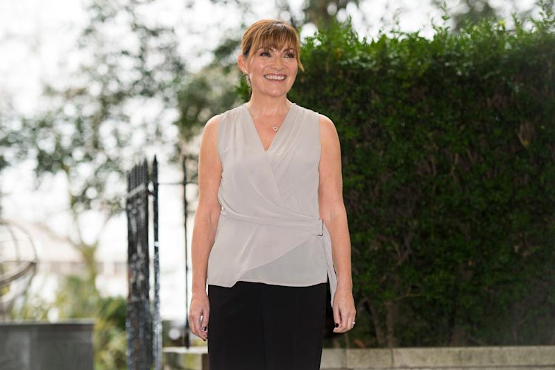 Lorraine Kelly pictured outside the Savoy Hotel, London, as she launches her debut homeware collection for online retailer JD Williams.