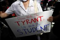 The latest wave of student-led demonstrations has largely been peaceful