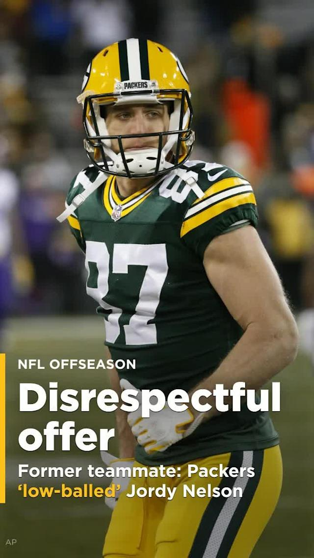 """Former Packers wide receiver James Jones says the Packers """"really, really low-balled"""" Jordy Nelson before they released him."""