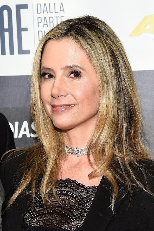 <p>Mira Sorvino is an actress who starred in a few of Weinstein's films. At the Toronto International Film Festival in September, 1995, the producer started to massage her shoulders while she kept telling him to stop. A few weeks later, he rung and told her he was coming over to her apartment late at night. She immediately rang a friend and asked him to come over and pose as her boyfriend. Weinstein got there first.<br />'I opened the door terrified, brandishing my twenty-pound Chihuahua mix in front of me,' Sorvino told The New Yorker, 'as though that would do any good.' (Getty) </p>