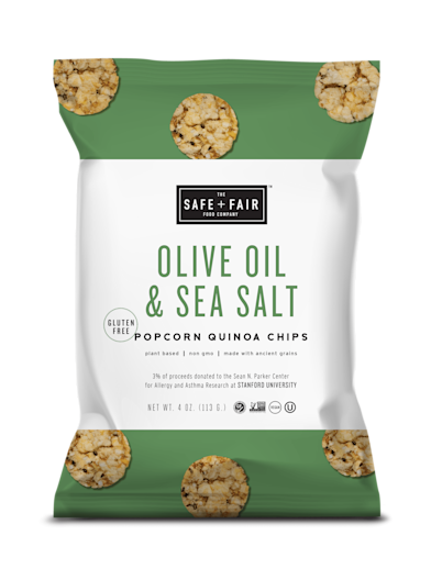 Safe and Fair Popcorn Quinoa Chips