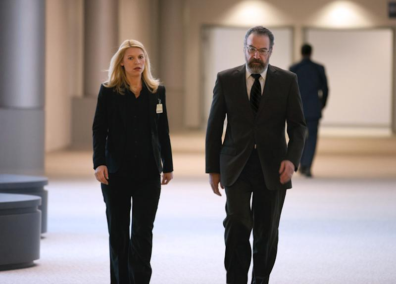 "Claire Danes as Carrie Mathison and Mandy Patinkin as Saul Berenson in the ""Homeland"" Season 2 episode, ""The Choice."""