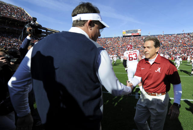 Nick Saban has filled out his state ethics form, Gus Malzahn has not