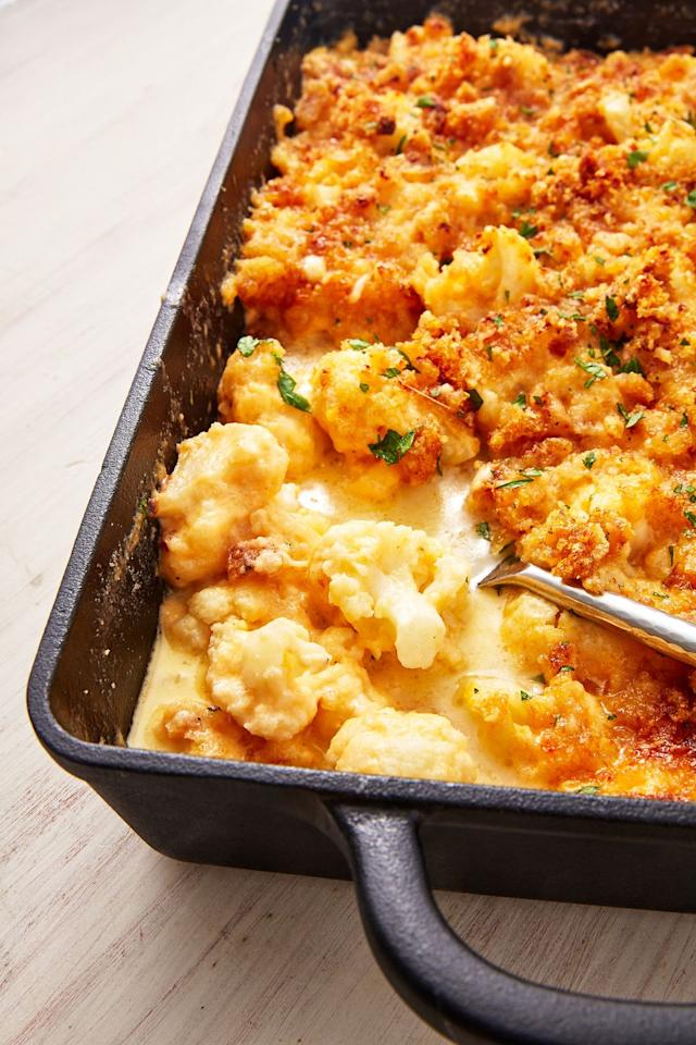 "<p>All the goodness of mac & cheese, without the guilt.</p><p>Get the recipe from <a href=""https://www.delish.com/cooking/nutrition/a29024668/keto-mac-and-cheese-recipe/"" target=""_blank"">Delish</a>.</p>"
