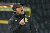 Inter Milan coach Antonio Conte saw red for arguing with the referee over stoppage time.