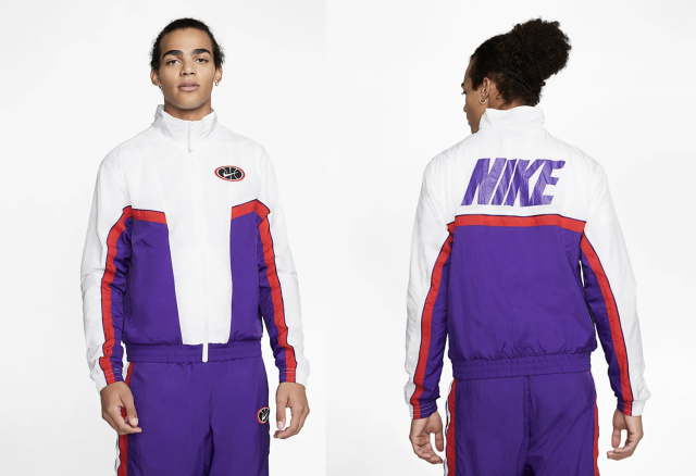 (Nike Throwback basketball jacket)