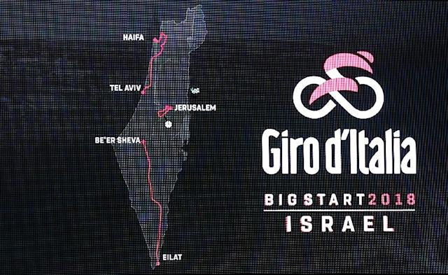 The first three stages of the 2018 Giro d'Italia will be in Israel (AFP Photo/THOMAS COEX)