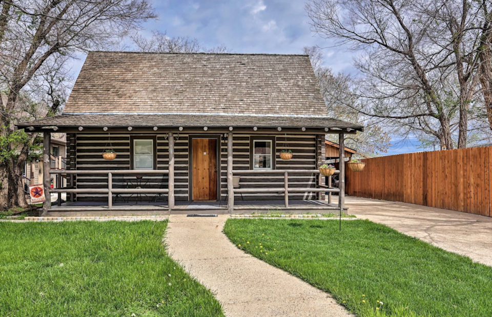 """<h2>Theodore Roosevelt National Park, North Dakota</h2><br><strong>Location: </strong>Medora, North Dakota<br><strong>Sleeps: </strong>8<br><strong>Price Per Night: </strong><a href=""""https://airbnb.pvxt.net/x9JPrA"""" rel=""""nofollow noopener"""" target=""""_blank"""" data-ylk=""""slk:$307"""" class=""""link rapid-noclick-resp"""">$307</a><br><br>""""The 'Maltese Ranch Cabin,' which sits mere minutes from Theodore Roosevelt National Park and Maah Daah Hey Trail, is a replica of the home that the 26th President once called home. This home for 8 features a furnished loft and covered porch within minutes of the area's acclaimed attractions including the Bully Pulpit Golf Course. You'll experience a look into the area's rich-yet-unique history during your stay.""""<br><br><h3><a href=""""https://airbnb.pvxt.net/x9JPrA"""" rel=""""nofollow noopener"""" target=""""_blank"""" data-ylk=""""slk:Book 'Maltese Ranch Cabin' Near Medora Attractions"""" class=""""link rapid-noclick-resp"""">Book 'Maltese Ranch Cabin' Near Medora Attractions</a></h3><span class=""""copyright"""">Photo: Courtesy of Airbnb.</span>"""