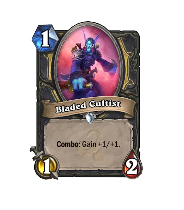 <p>Perhaps the most elegantly designed of the 1-drops in Whispers, Bladed Cultist is a great way to get a solid body out quickly and easily. </p>