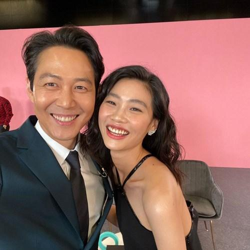 Lee Jung-Jae with his beautiful co-star Jung Ho-Yeon