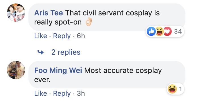 Screenshot of Facebook comments on Singaporean Michael Chew.