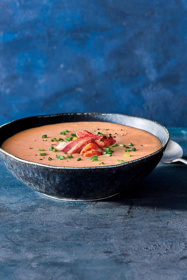 """<p>Lobster bisque—basically decadence in the form of soup—turns extra indulgent with cooked rice blended in as a thickener. Take the time to brown the butter to give it added nutty dimension, then garnish with halved claws for a show-stopping starter. </p> <ul><li><strong>Recipe: <a href=""""https://www.coastalliving.com/recipe/brown-butter-lobster-biqsue"""" target=""""_blank"""">Brown-Butter Lobster Bisque</a></strong></li> </ul>"""