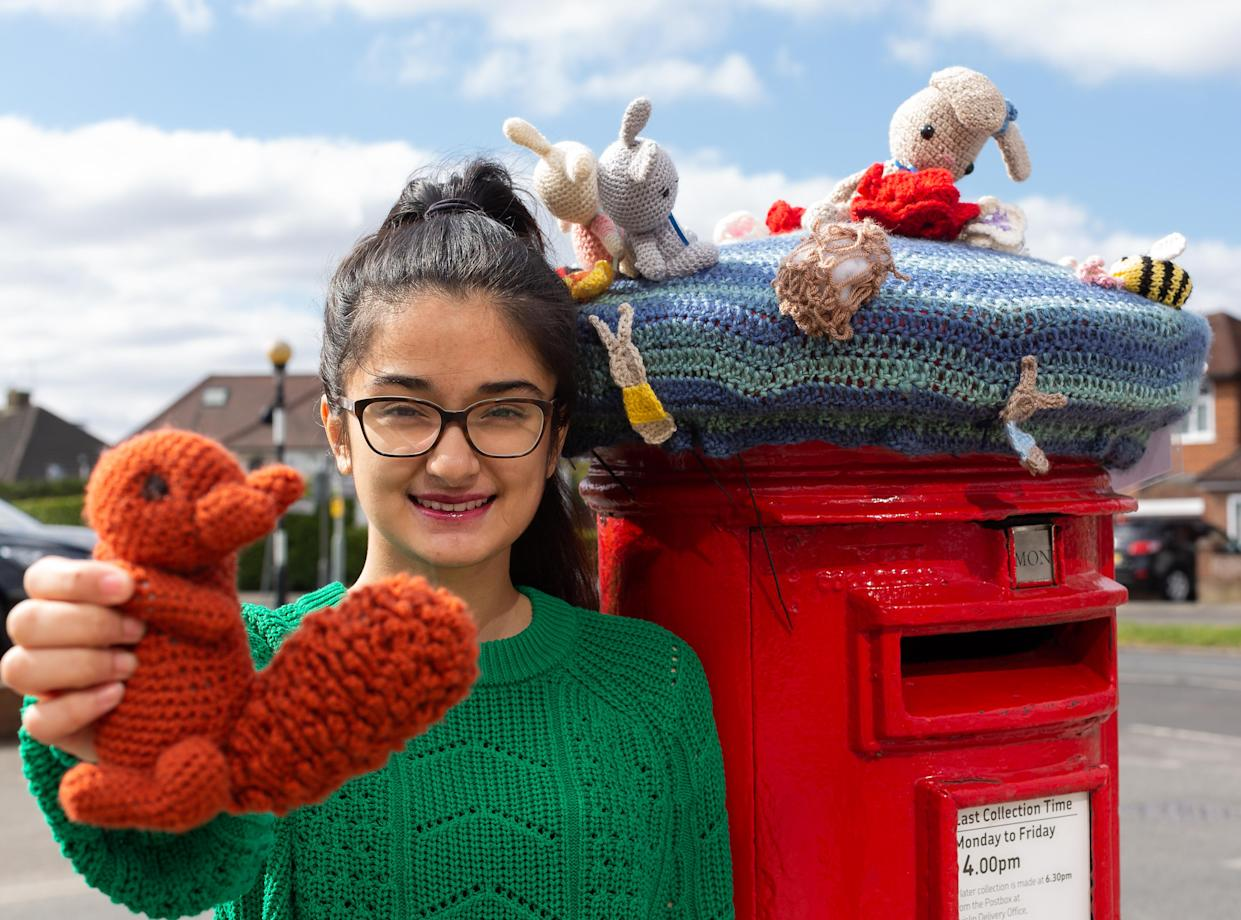 Ameera Dulloo shows off her creation in Eastcote, Middlesex