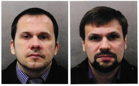 <span>A police photograph of Alexander Petrov and Ruslan Boshirov, who have been named as suspects in the Salisbury Novichok attack</span> <span>Credit: Metropolitan Police </span>
