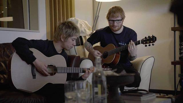 One OK Rock's lead vocalist Takahiro Moriuchi (left) co-writes Renegade with Ed Sheeran. (Photo: Instagram/oneokrockofficial)