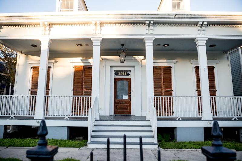 A home used for short-term rentals on Janice Coatney's block of Ursulines in the Treme neighborhood. This block has only six homes that have not yet been turned into short-term rentals.