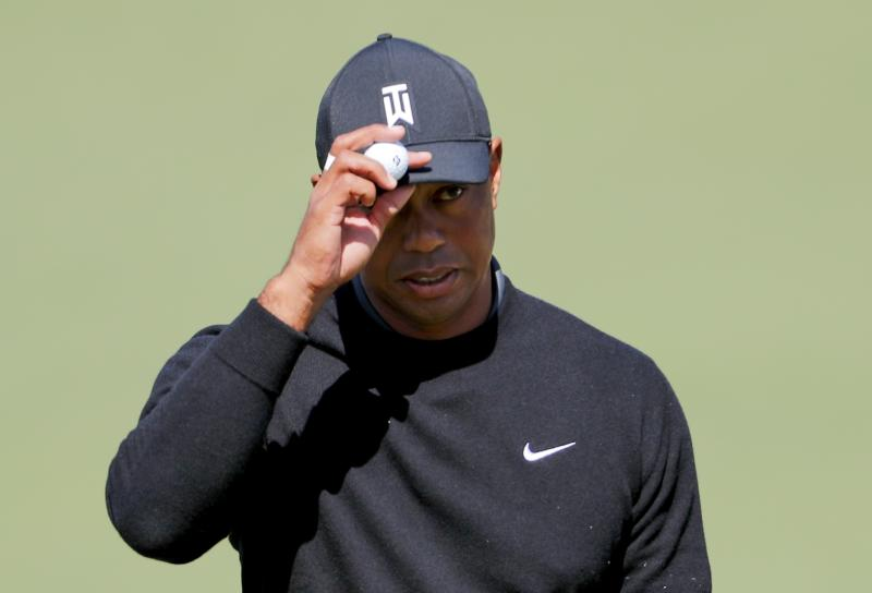 tiger woods at masters 2018  live hole