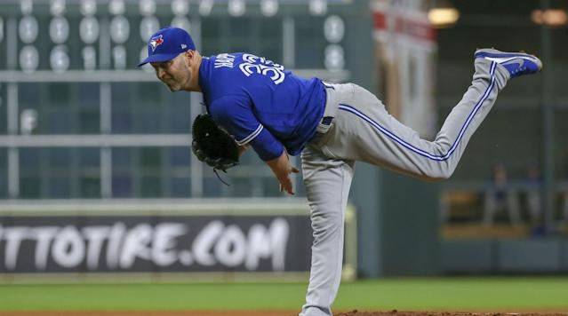 The Blue Jays have with J.A. Happ's reps about potential reunion in Toronto. (AP)