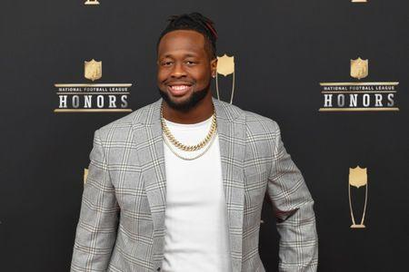 FILE PHOTO: Feb 2, 2019; Atlanta, GA, USA; Gerald McCoy during red carpet arrivals for the NFL Honors show at the Fox Theatre. Mandatory Credit: Dale Zanine-USA TODAY Sports