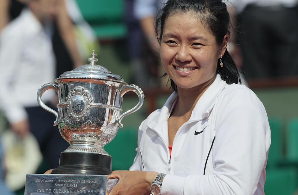 China's Li Na became the first Asian-born player to win a Grand Slam when she won the French Open in 2011. (JACQUES DEMARTHON/AFP via Getty Images)