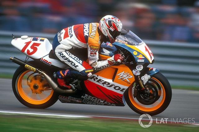 "1998. Sete Gibernau <span class=""copyright"">Gold and Goose / Motorsport Images</span>"