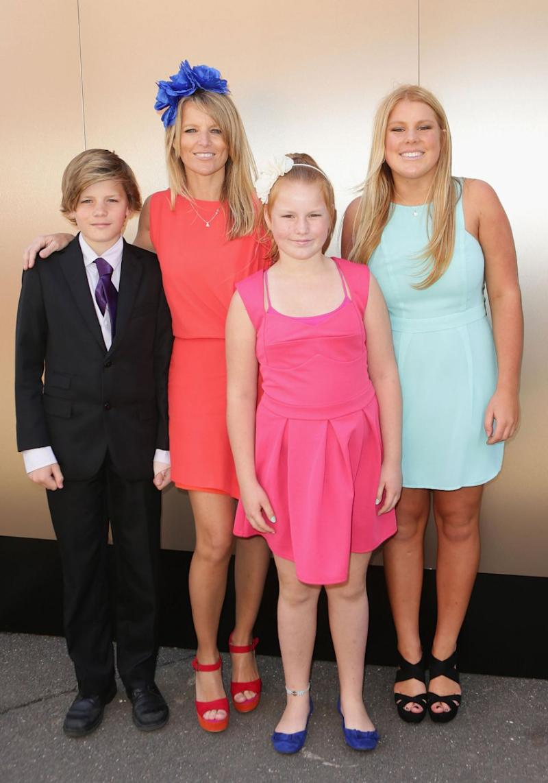 Jackson pictured with his mother Simone Callahan, and his sisters Brooke and Summer. Source: Getty