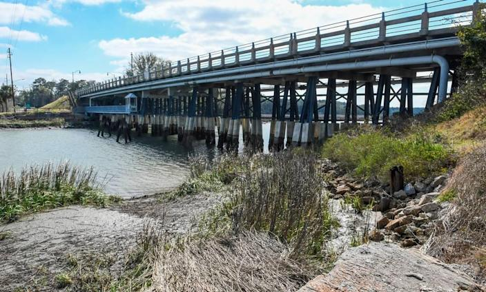 Pictured is R.C. Berkeley Bridge as seen on Friday, Feb. 21, 2020, that connects the mainland of Beaufort County to Parris Island, carrying vehicles over Archers Creek. According to police reports, a boat carrying a group of intoxicated young adults in the early morning hours of Jan. 24, 2019, with heavy fog, struck the pilings of the narrow opening that killed Mallory Beach, 19, after she was thrown from the boat.