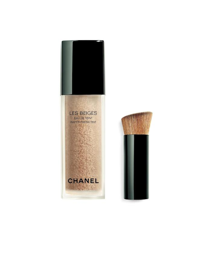 """<p>Like an Instagram filter in a bottle, this liquid contains droplets of pigment that blur away imperfections and add a natural glow.</p> <p><strong>Buy it!</strong> $65; <a href=""""https://click.linksynergy.com/deeplink?id=93xLBvPhAeE&mid=1237&murl=https%3A%2F%2Fwww.nordstrom.com%2Fs%2Fchanel-les-beiges-water-fresh-tint%2F5230007&u1=PEOIntroducingPEOPLEsProductsWorththeHypein2021khogan1271StyGal12821774202107I"""" rel=""""sponsored noopener"""" target=""""_blank"""" data-ylk=""""slk:nordstrom.com"""" class=""""link rapid-noclick-resp"""">nordstrom.com</a></p>"""