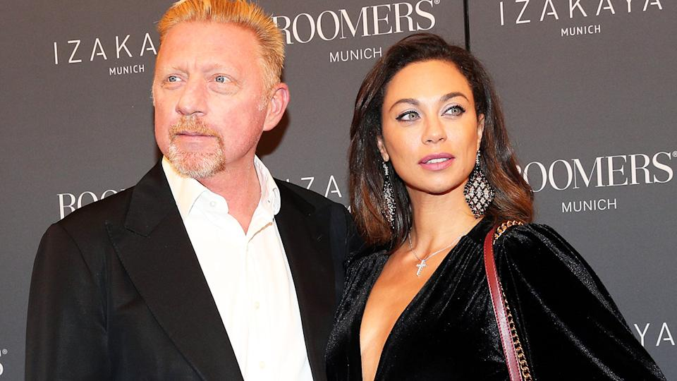 Boris Becker, pictured here with estranged wife Lilly in 2017.