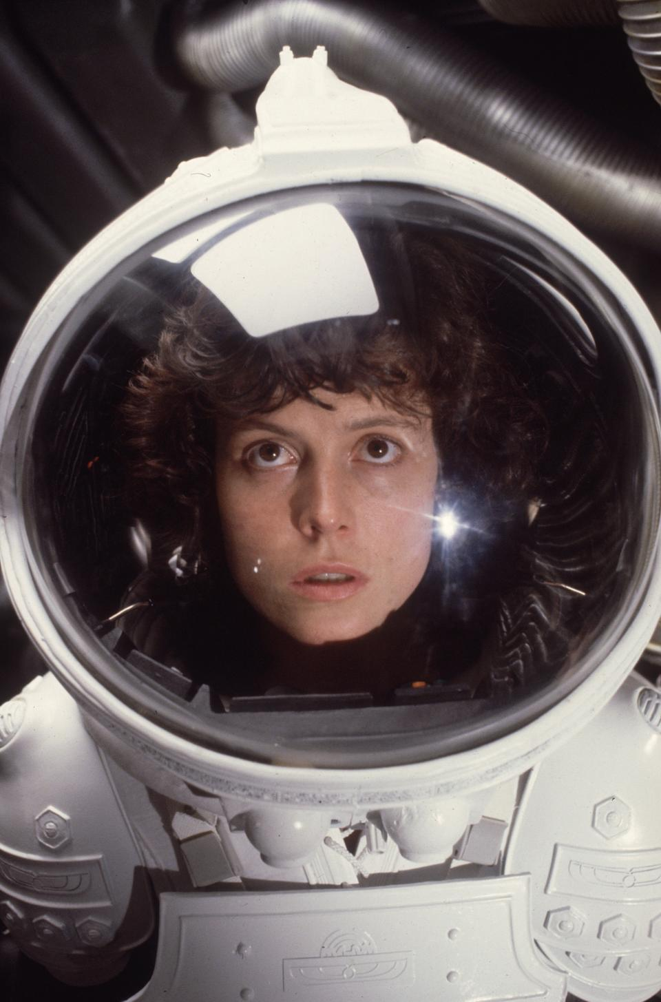 American actress Sigourney Weaver in the role of Ripley in the film 'Alien'.   (Photo by Hulton Archive/Getty Images)