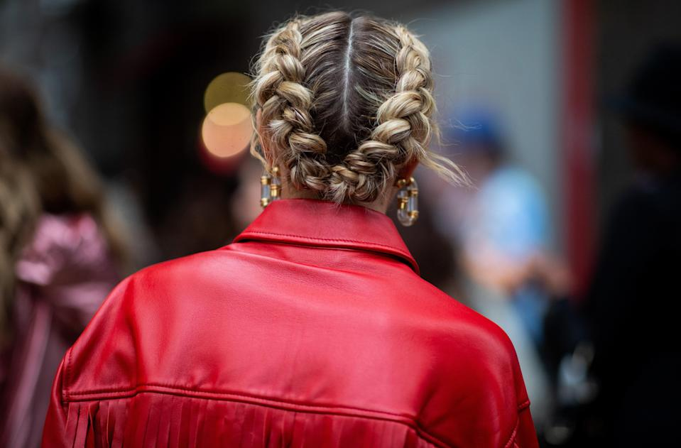 Consider these Dutch braids the cooler, more 2020 take on milkmaid braids.