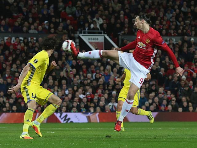 Zlatan Ibrahimovic struggled to find a breakthrough on his return to the side (Getty)