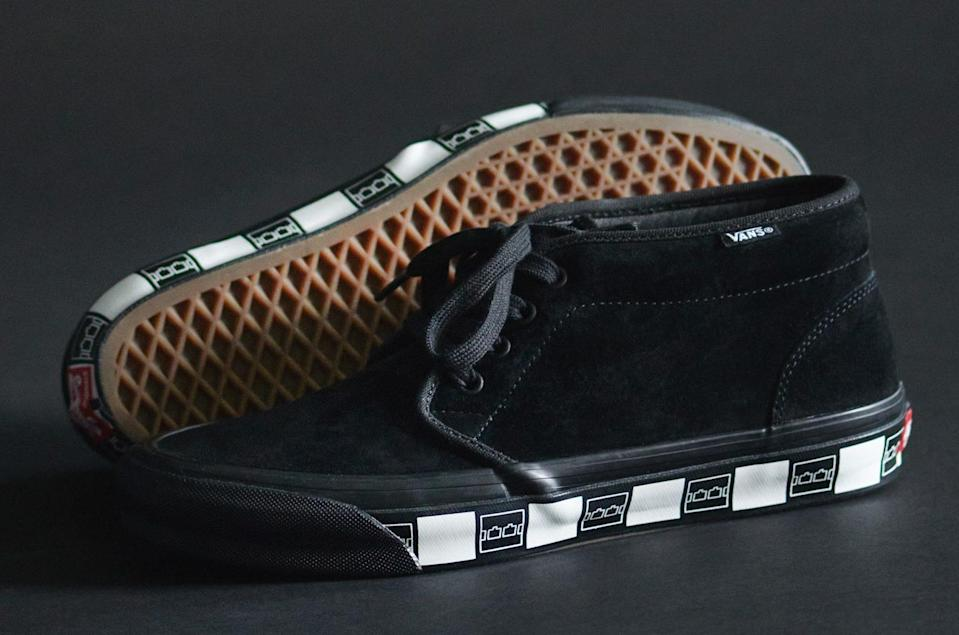The Vault by Vans x Trilogy Tapes Chukka in black. - Credit: Courtesy of Vans