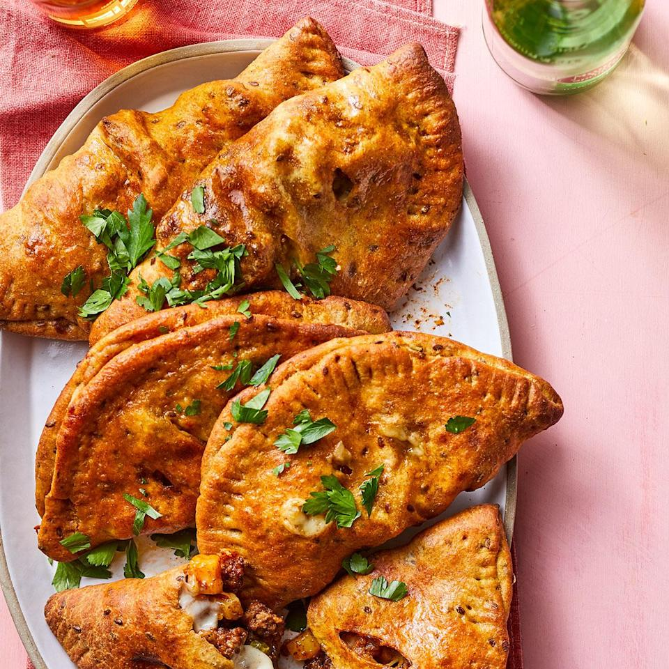 """<p>These samosa-inspired savory hand pies call for curry powder and garam masala, spice blends that allow you to add the power of 10 spices in just two ingredients. <a href=""""http://www.eatingwell.com/recipe/279028/hand-pies-with-curried-beef-peas/"""" rel=""""nofollow noopener"""" target=""""_blank"""" data-ylk=""""slk:View recipe"""" class=""""link rapid-noclick-resp""""> View recipe </a></p>"""