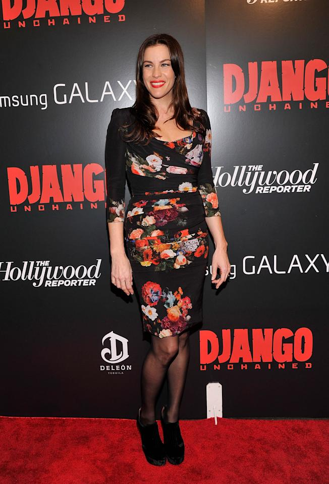 "NEW YORK, NY - DECEMBER 11:  Liv Tyler attends a  screening of ""Django Unchained"" hosted by The Weinstein Company with The Hollywood Reporter, Samsung Galaxy and The Cinema Society at Ziegfeld Theater on December 11, 2012 in New York City.  (Photo by Stephen Lovekin/Getty Images)"