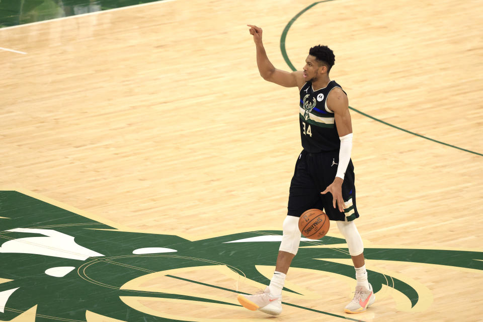 Giannis Antetokounmpo played one of the greatest Finals games in NBA history.  (Justin Casterline/Getty Images)